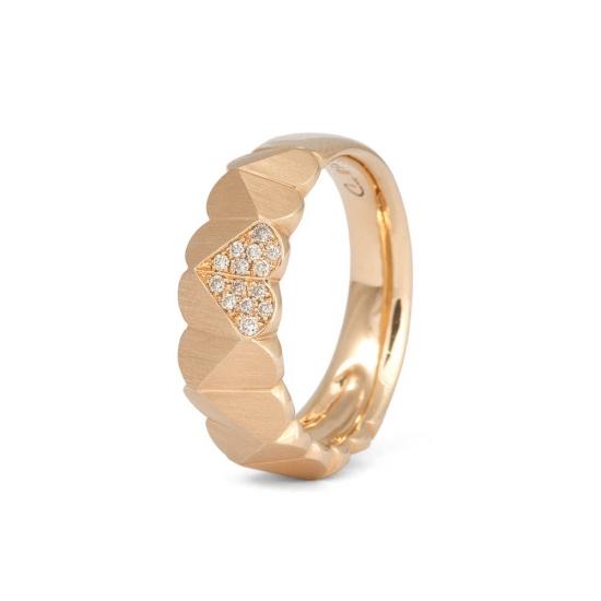 Roségold-Ring mit Diamanten aus der Kollektion Herzblatt