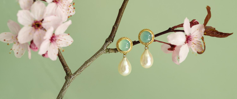 Ohrhänger mit Perlen für die Braut