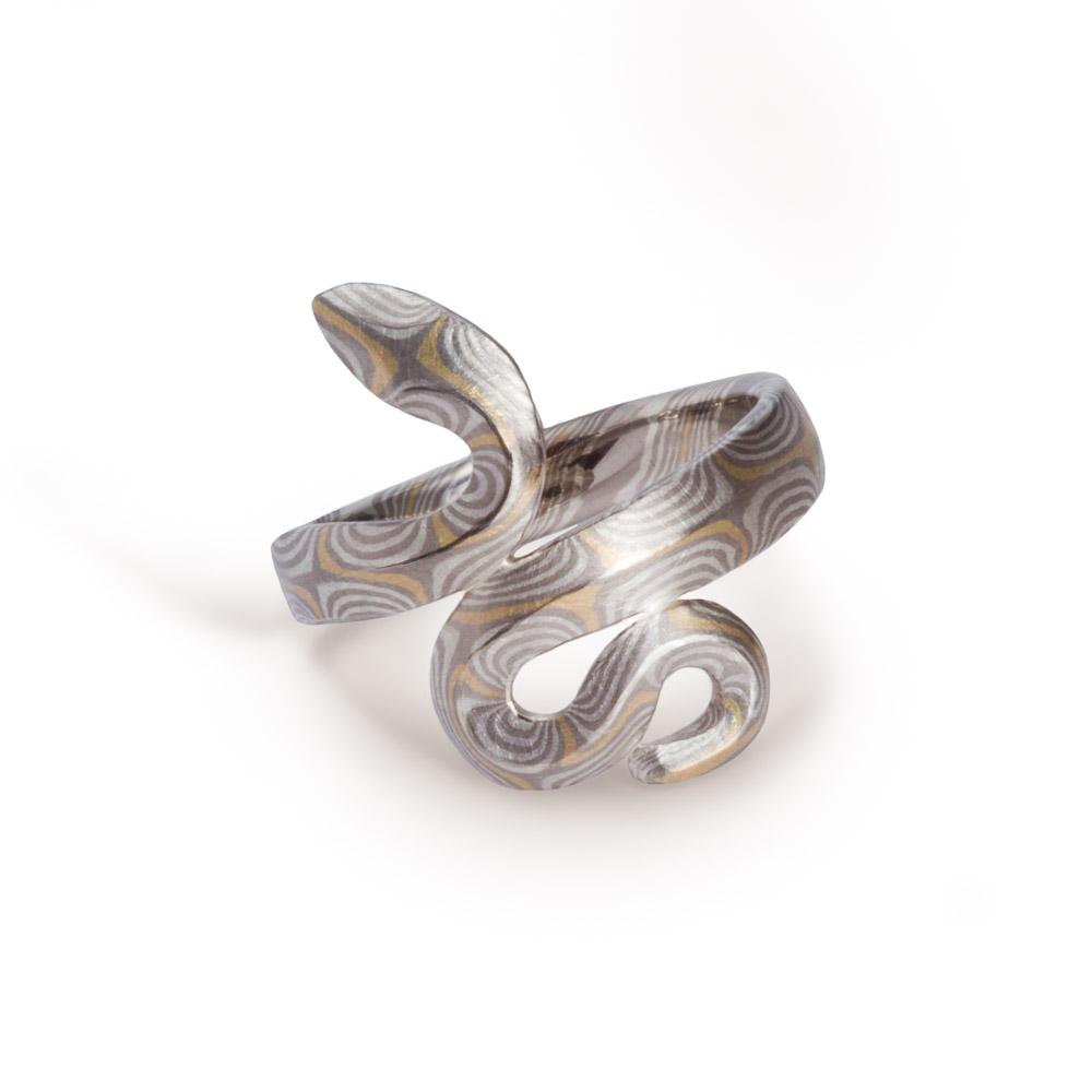 Mokume Gane - Schlangenring