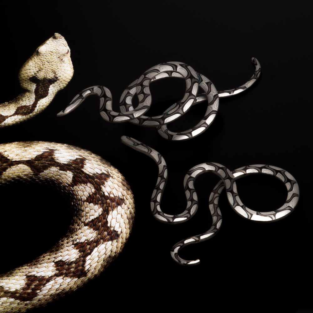 Mokume Gane - Schlangen