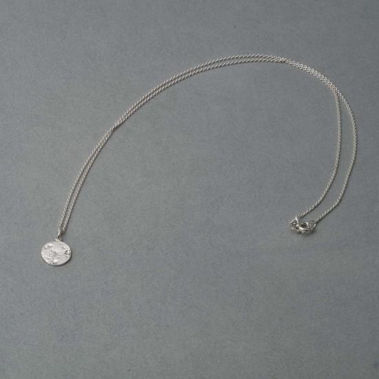 Zarte Halskette mit kleinem Kreis-Anhänger »Vollmond«aus Silber